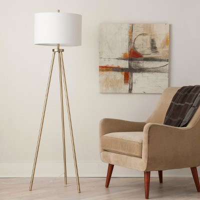 Ellis Tripod Floor Lamp Brass/White (Lamp Only)- Project 62™