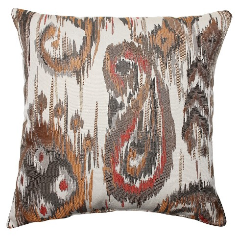 "Pillow Perfect Sonata Throw Pillow - 16.5""x16.5"" - Bronze - image 1 of 1"