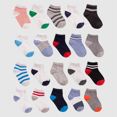 Baby Boys' 20pk Ankle Socks - Cat & Jack™ Blue 6-12M
