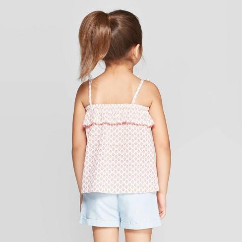 dec6ad06d2a OshKosh B gosh Toddler Girls  Floral Flounce Tank Top - Coral   Target