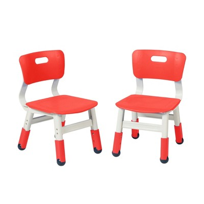 ECR4Kids Resin Classroom Chairs, Indoor Kids Seating with Adjustable Seat Height (2-Pack)