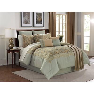 Riverbrook Home Queen San Sabastion 14pc Comforter & Sham Set Aqua