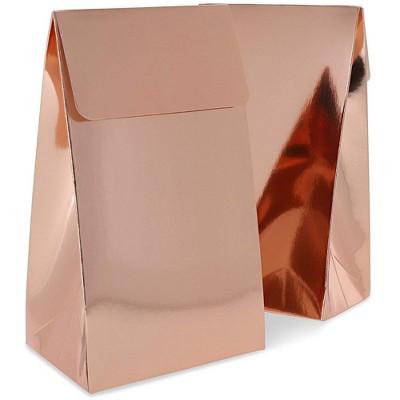 Blue Panda Rose Gold Foil Party Favor Bags (24 Pack)