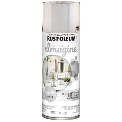 Rust-Oleum 11oz Imagine Metallic Spray Paint Silver