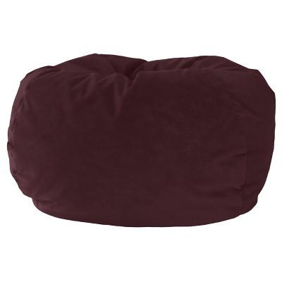 Kids' Micro-Fiber Suede Bean Bag Chair Red - Gold Medal