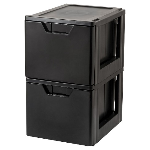 IRIS Heavy Duty Stacking File Storage Drawer - 2pk - image 1 of 5