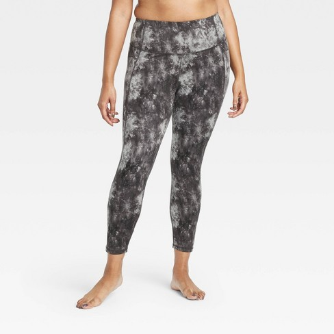 "Women's Marble Print Contour Power Waist High-Waisted 7/8 Leggings 24"" - All in Motion™ - image 1 of 4"