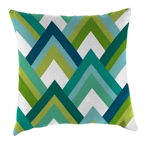 Outdoor Throw Pillow Set Jordan Manufacturing Multi-colored Blue Green White - image 1 of 1