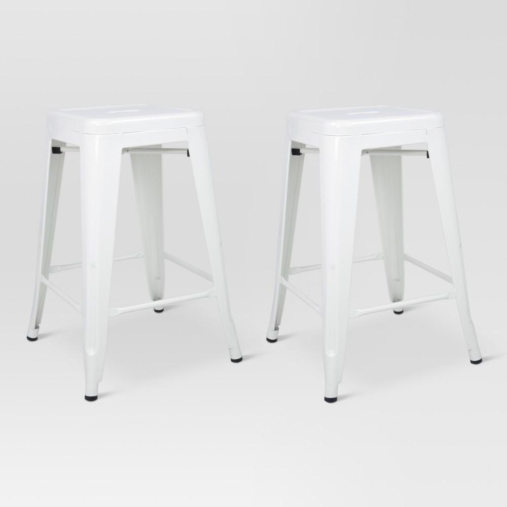 Carlisle 24 Metal Counter Stool - White (Set of 2) - Threshold