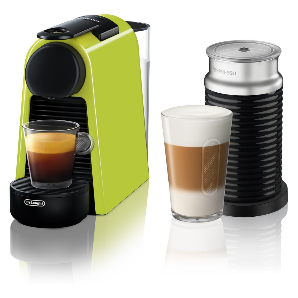 Nespresso Essenza Mini Espresso Machine with Aeroccino Lime (Green) by De'Longhi 53804233