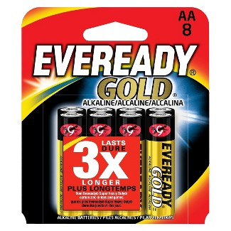 Eveready Gold AA Batteries 8 ct