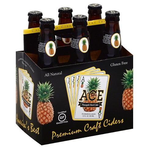 ACE Pineapple Hard Cider - 6pk/12 fl oz Bottles - image 1 of 1