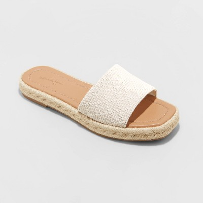 Women's Maren Square Toe Espadrille Slide Sandals - Universal Thread™