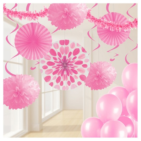 Candy Pink Party Decorations Kit - image 1 of 1