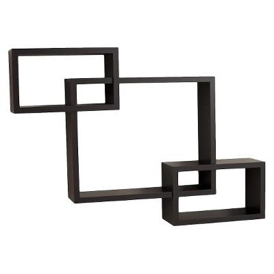 "26.5"" x 18.75"" Intersecting Rectangular Wall Shelf - Danya B."
