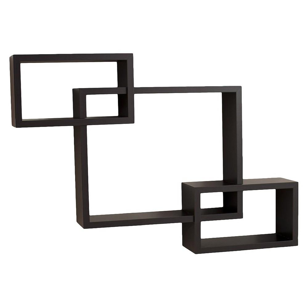26.5 x 18.75 Intersecting Rectangular Wall Shelf Espresso Brown - Danya B. Buy
