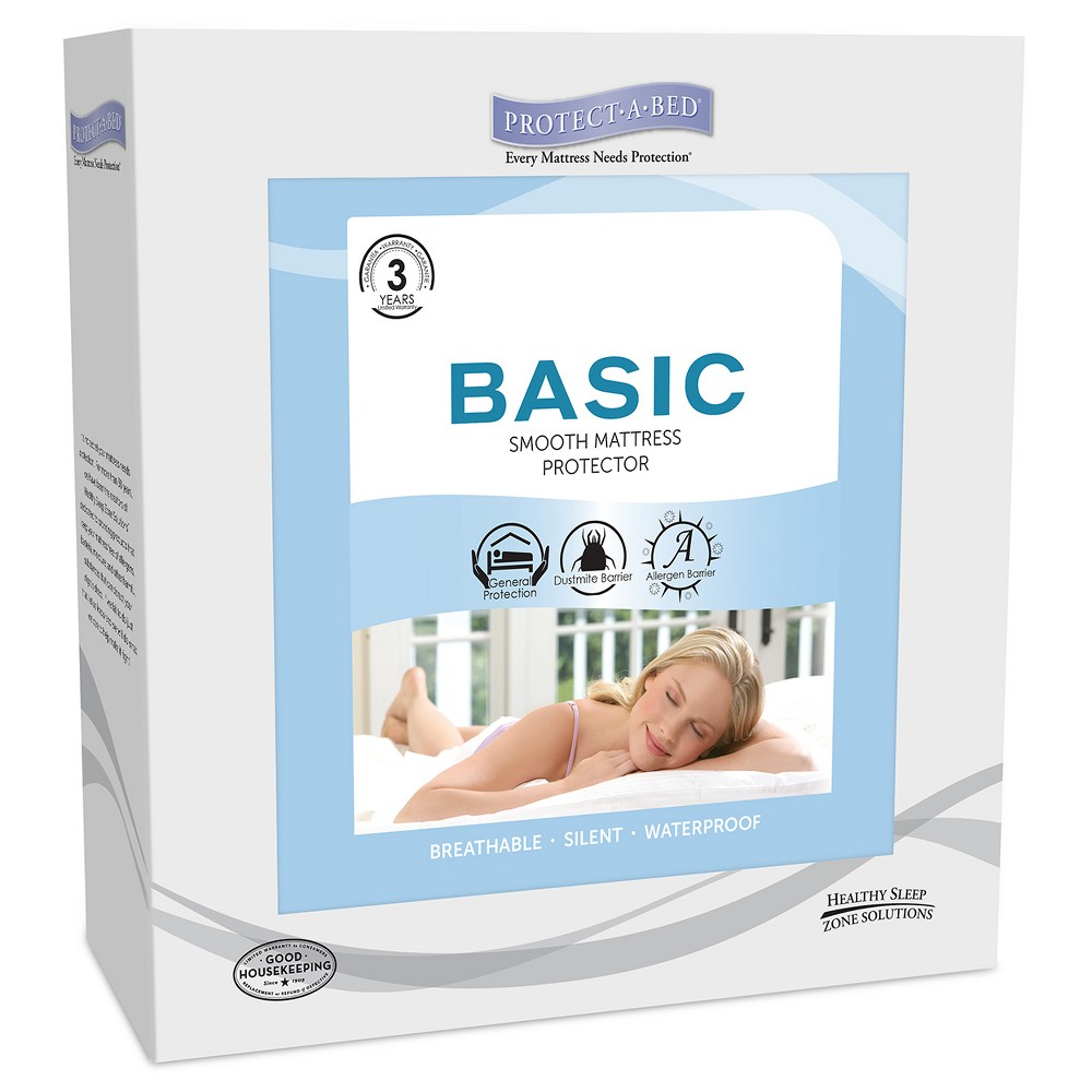 Protect-A-Bed Basic - Fitted Sheet Style Mattress Protector - White (Xlt)