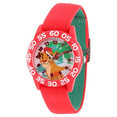 Boys' Disney Lion Guard Kion Red Plastic Time Teacher Watch - Red
