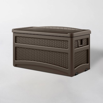 73gal Resin Deck Box With Seat Brown - Suncast