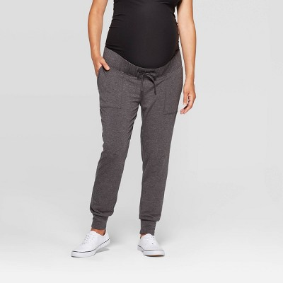 Maternity Drapey Jogger - Isabel Maternity by Ingrid & Isabel™ Charcoal Heather Gray L