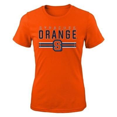 NCAA Syracuse Orange Girls' Short Sleeve Crew Neck T-Shirt