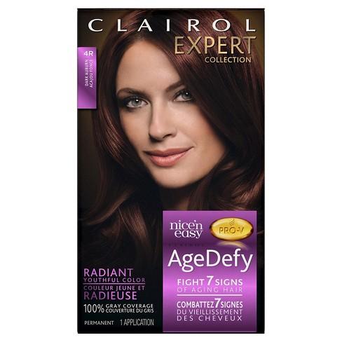 Clairol Nice N Easy Age Defy Expert Hair Color 4r Dark Auburn 1 Kit