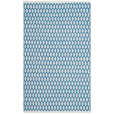 2 3 X7 Woven Geometric Runner Rug Blue Ivory Safavieh Brickseek