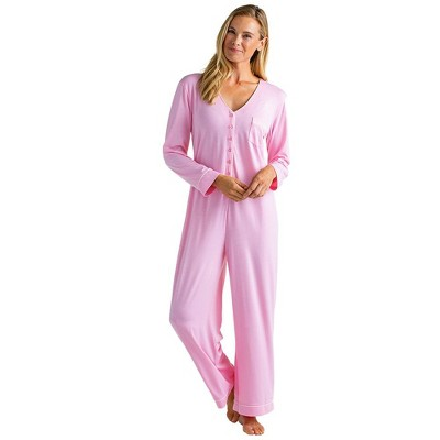 Softies Women's Long Sleeve Sleeper with Contrast Piping