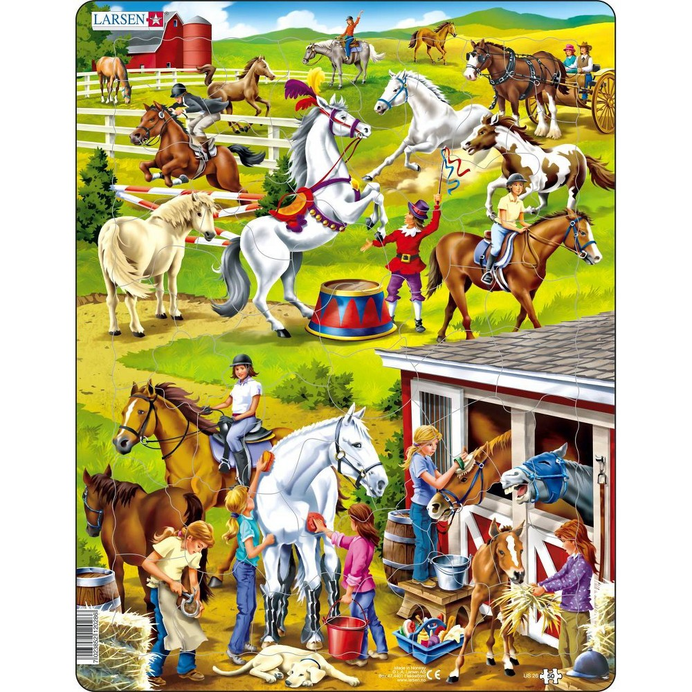Springbok Larsen Horse Children's Jigsaw Puzzle 50pc