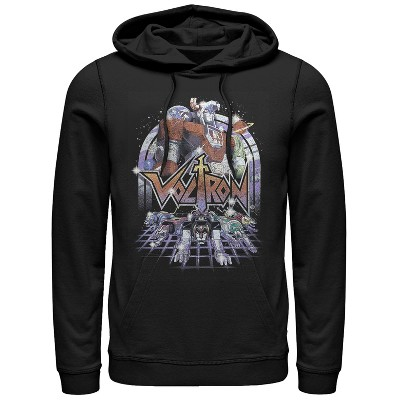 Men's Voltron: Defender of the Universe Retro Robot Lions Pull Over Hoodie