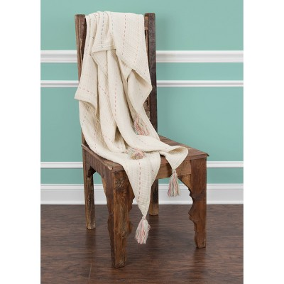 """Throw Blankets 50""""X60"""" White - Rizzy Home : Target"""