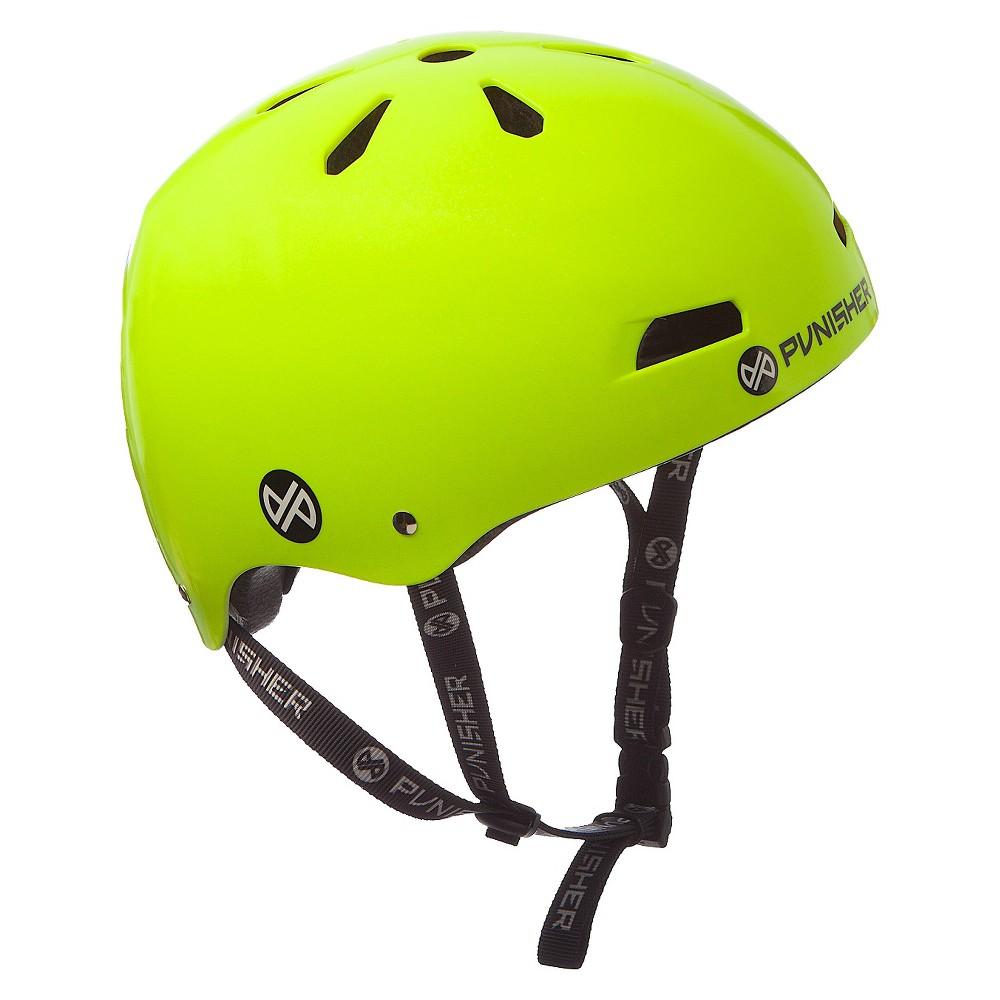 Punisher Skateboards Skateboard Helmet Neon Yellow