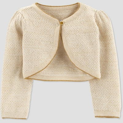 Baby Girls' Dressy Cardigan - Just One You® made by carter's Gold 3M