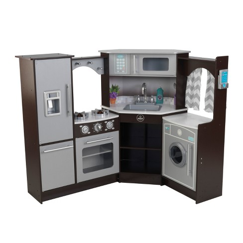 KidKraft Ultimate Corner Play Kitchen with Lights & Sounds - Espresso - image 1 of 12