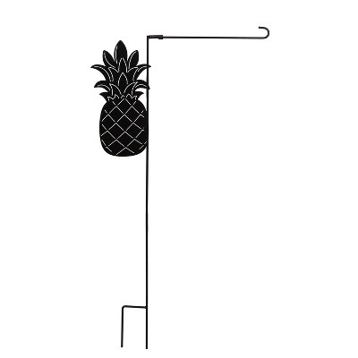 Evergreen Flag Pineapple Laser Cut Garden Flag Stand  Durable Outdoor Flag For Homes and Gardens