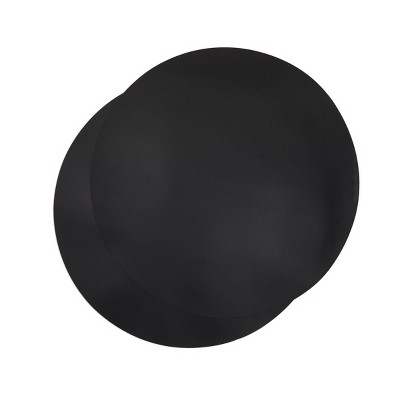 Juvale 2 Pack Silicone Microwave Mats, Black Kitchen Pot Holders, 11.75 In Round Trivets