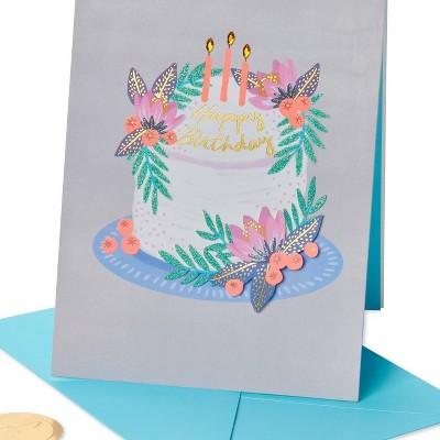 Floral Berries Cake Print Card - PAPYRUS