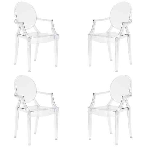 Set of 4 Janice Armchair Clear - Poly & Bark - image 1 of 4