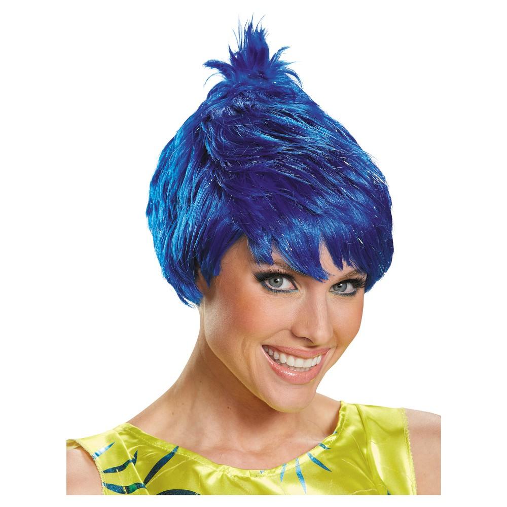 Joy Adult Costume Wig Dark Blue - One Size, Women's