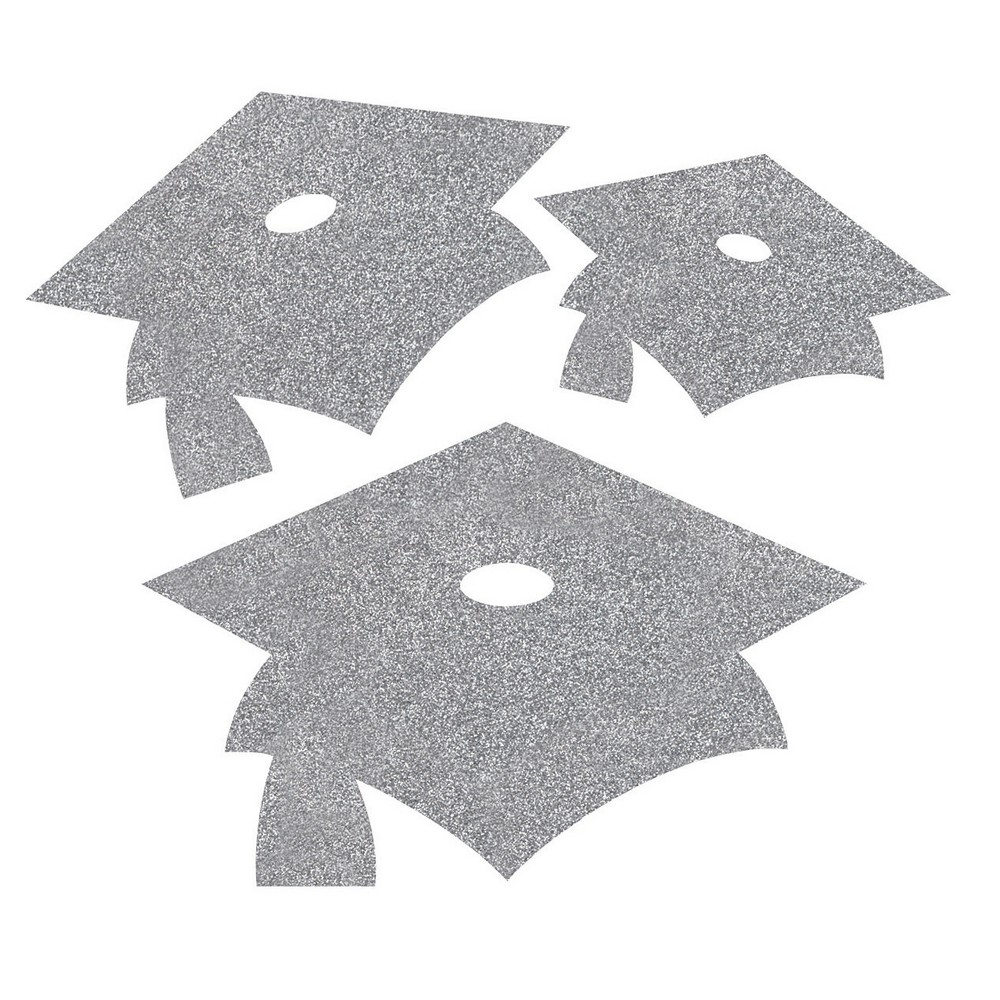 12ct Silver Mortarboard Graduation Cutouts