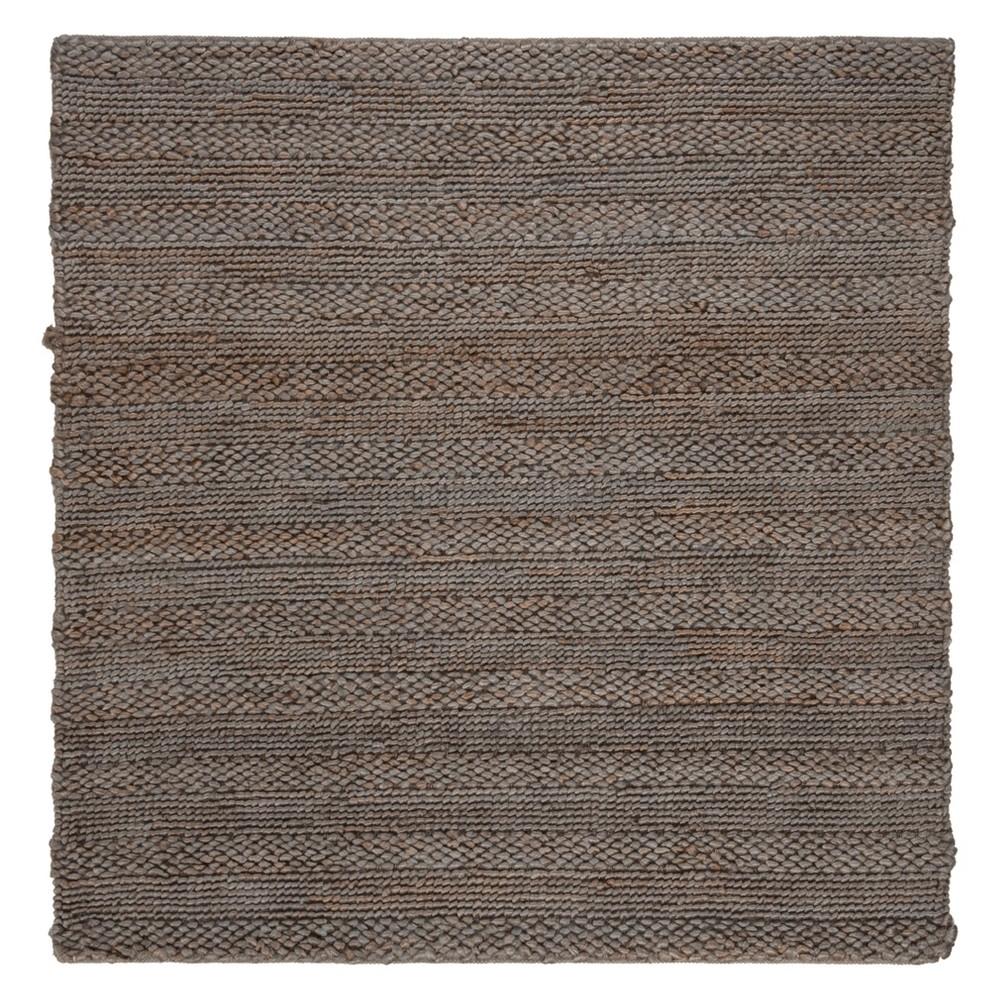6'X6' Solid Woven Square Area Rug Beige - Safavieh