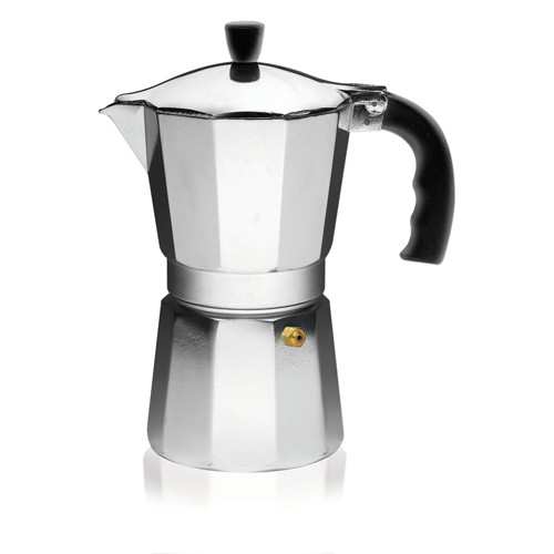 Imusa 6 Cup Aluminum Stovetop Coffeemaker, Black