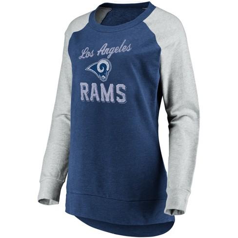 Discount NFL Los Angeles Rams Women's Brushed Tunic Gray Crew Neck Fleece  for sale