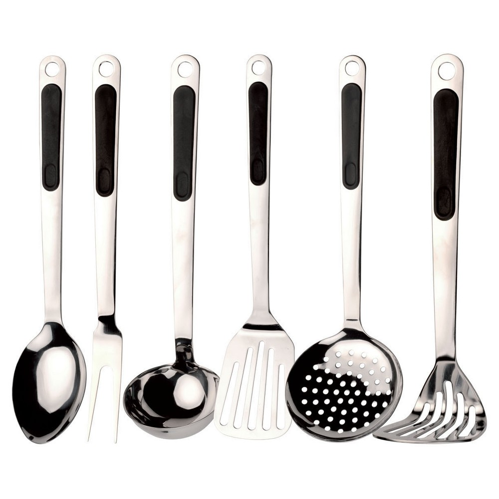 Image of Berghoff CooknCo Ergo 7pc Kitchen Utensils, Silver