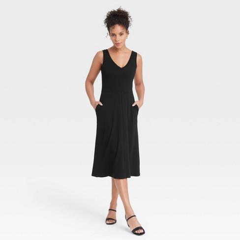 Women's Sleeveless Rib Knit Ballet Dress - A New Day™ - image 1 of 3