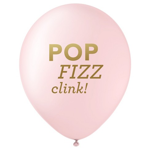 12ct Pop Fizz Clink Designer Balloons Pink - image 1 of 4