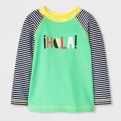 Baby Boys' ¡Hola! Long Sleeve Rash Guard - Cat & Jack™ Green 9M