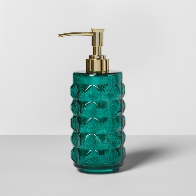 Indo Chic Green Mercury Glass Soap/Lotion Dispenser Green - Opalhouse™