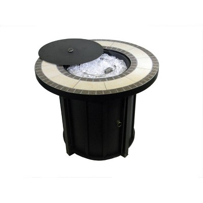 Round Tile Top Outdoor Fire Pit - AZ Patio Heaters