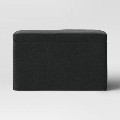 Double Storage Ottoman Black - Room Essentials™